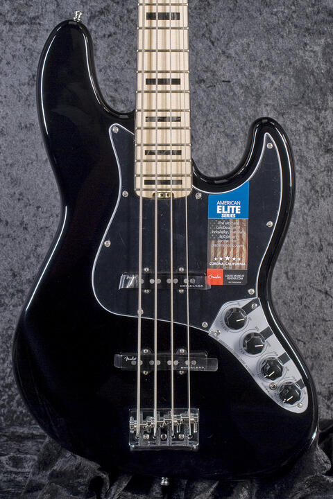 Fender American Elite Jazz Bass MN BLK