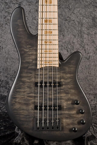 Franz Bassguitars Merak 5 Curly Maple MN