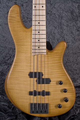 Franz Bassguitars Merak 4 Flamed Maple SN Honey Burst