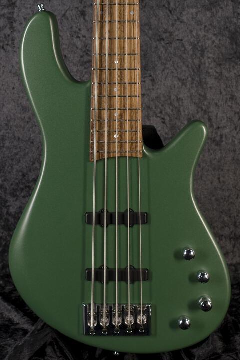 Franz Bassguitars Merak 5 Malachite Green