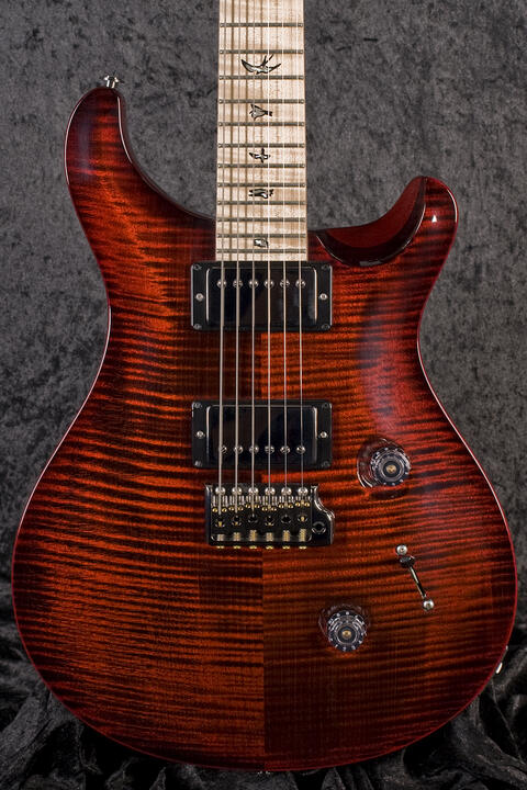 PRS Custom 24 Wood Library Red Fade Wrap