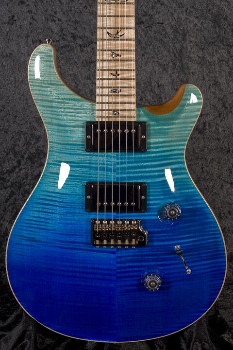 PRS Custom 24 Wood Library Blue Fade