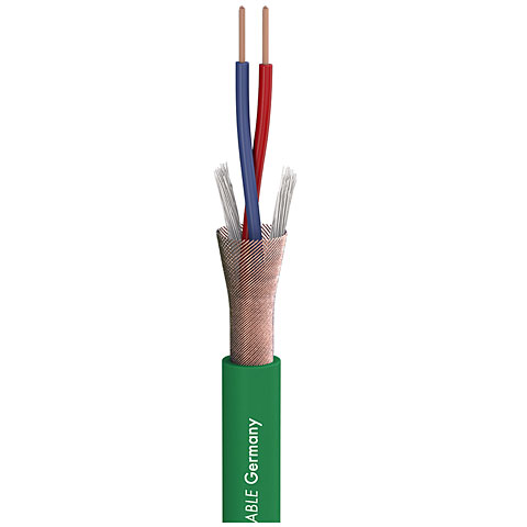 Cable audio a metros Sommer Cable Stage 22 Highflex green