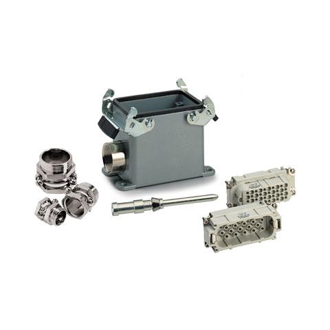 Conector Multipin Contact 64-Pol Aufbau komplett