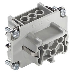 Contact 6-Pol Einsatz female « Conector Multipin