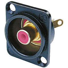 Neutrik NF2DB2 Buchse schwarz/rot « Conector Cinch
