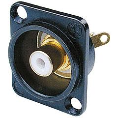 Neutrik NF2DB9 Buchse schwarz/weiss « Cinch Stecker