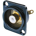 Cinch Stecker Neutrik NF2DB9 Buchse schwarz/weiss