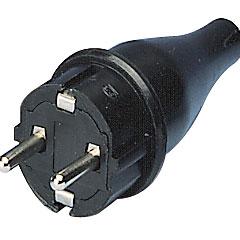 E Teknik Schuko-Stecker schwarz