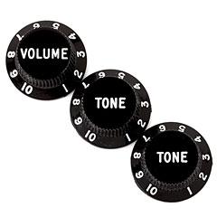 Fender Strat 1xVol/2xTone BK « Potiknopf