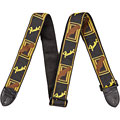 "Guitar Strap Fender Monogram 2"" Black/Yellow/Brown"