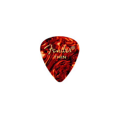 Púa Fender 351 Shape Premium Picks, Thin, Shell (12 Stk)