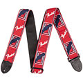 "Guitar Strap Fender Monogram 2"" Red/White/Blue"