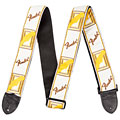 "Guitar Strap Fender Monogram 2"" White/Brown/Yellow"