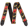 "Guitar Strap Fender Monogram 2"" Black/Yellow/Red"
