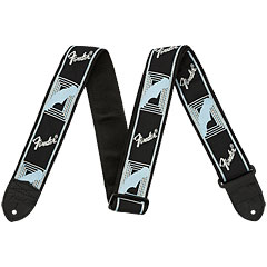 "Fender Monogram 2"" Black/Light Grey/Blue « Schouderband"