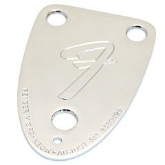 "Fender '70s Vintage-Style 3-Bolt ""F"" Stamped Guitar Neck Plate, Chrome « Placas para mástil"