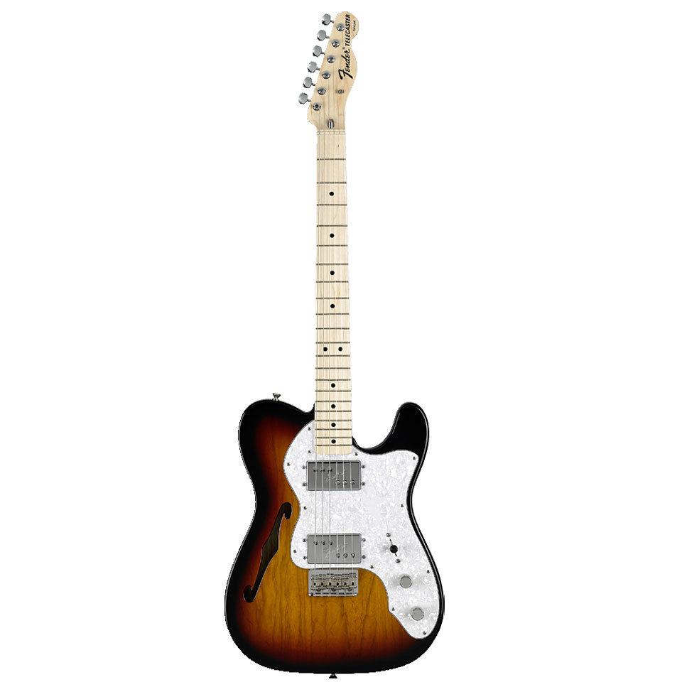 fender classic series 39 72 telecaster thinline 3ts electric guitar. Black Bedroom Furniture Sets. Home Design Ideas
