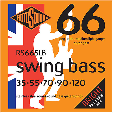 Cuerdas bajo eléctrico Rotosound Swingbass RS665LB