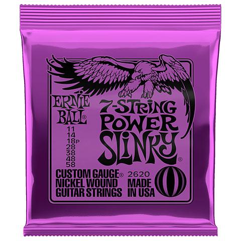 Corde guitare électrique Ernie Ball 7-String Power Slinky 2620 .011-058