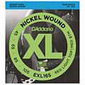 Cuerdas bajo eléctrico D'Addario EXL165 Nickel Wound .045-105