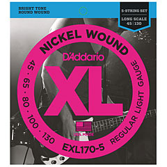 D'Addario EXL170-5 Nickel Wound .045-130 « Saiten E-Bass