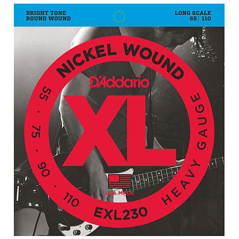 D'Addario EXL230 Nickel Wound .055-110