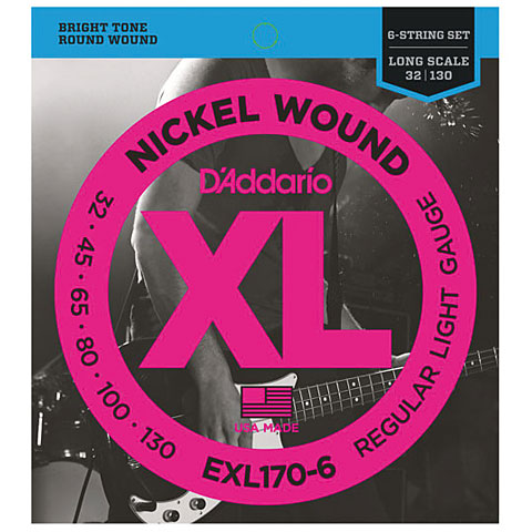 Saiten E-Bass D'Addario EXL170-6 Nickel Wound .032-130