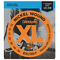 Corde guitare électrique D'Addario EXL110-7 Nickel Wound .010-059