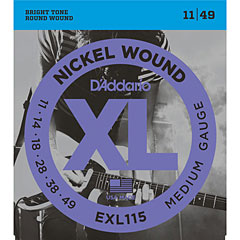 D'Addario EXL115 Nickel Wound .011-049 « Corde guitare électrique