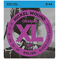 Corde guitare électrique D'Addario EXL120 Nickel Wound .009-042