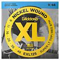 Corde guitare électrique D'Addario EXL125 Nickel Wound .009-046