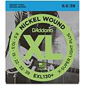 Set di corde per chitarra elettrica D'Addario EXL130+ Nickel Wound .0085-039