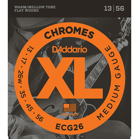 Corde guitare électrique D'Addario ECG26 Chromes .013-056