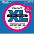 Set di corde per basso elettrico D'Addario EXL170TP Nickel Wound .045-100