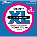 Electric Bass Strings D'Addario EXL170TP Nickel Wound .045-100