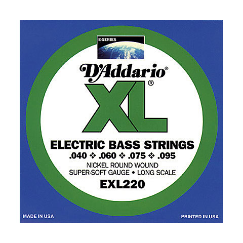 D'Addario EXL220TP Nickel Wound .040-095 Twin Pack