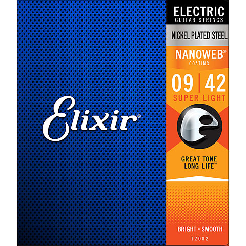 Corde guitare électrique Elixir Nanoweb Super Light .009-042