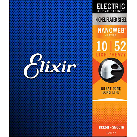 Elixir Nanoweb Light-Heavy .010-052