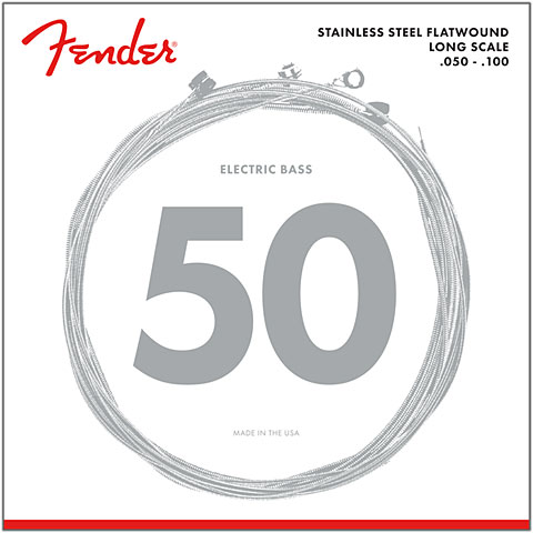 Saiten E-Bass Fender 9050ML, 050-100, Flatwound