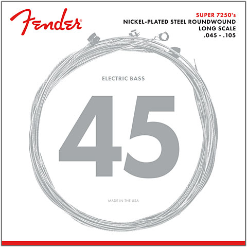 Electric Bass Strings Fender 7250M, 045-105