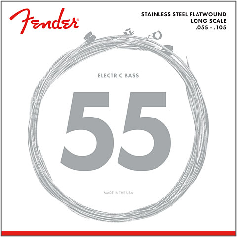 Saiten E-Bass Fender 9050M, 055-105, Flatwound