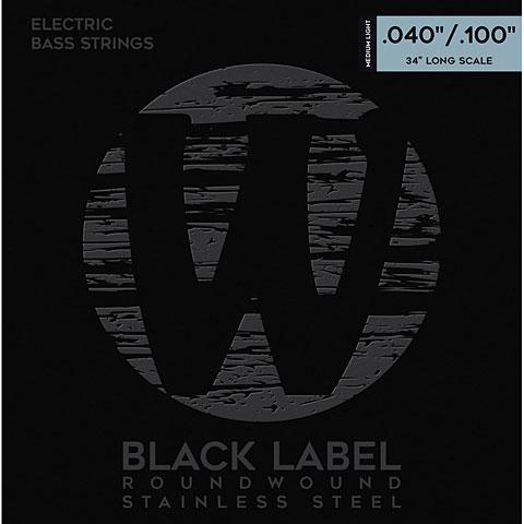 Cuerdas bajo eléctrico Warwick BlackLabel 040-100, 4-string