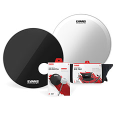 "Evans EQ-3 Resonant Black 22"" Bass Drum Head « Schlagzeug-Fell-Set"