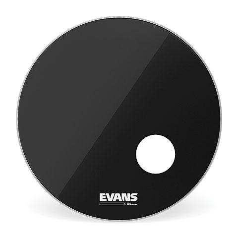 "Bass-Drum-Fell Evans EQ-3 Resonant Black 24"" Bass Drum Head with Port"