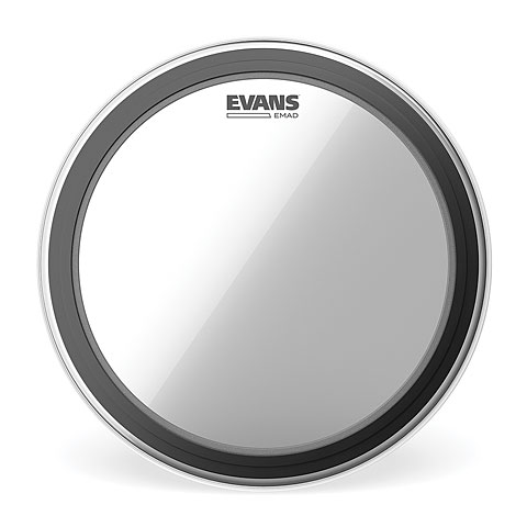 """Bass-Drum-Fell Evans EMAD Clear 24"""" Bass Drum Head"""