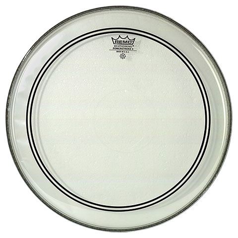 "Bass-Drum-Fell Remo Powerstroke 3 Clear 22"" Bass Drum Head P3-1322-C2"