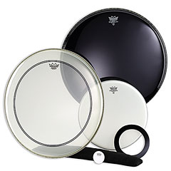"Remo Powerstroke 3 transparent 2x22"" « Drumhead Set"