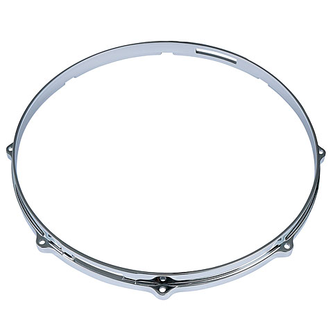 "Anillos ajuste Tama 14"" Die Cast Hoop 8 Holes Snare Side Chrome"