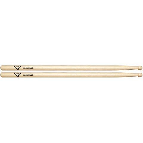 Baquetas para batería Vater American Hickory Fatback 3A (Wood)